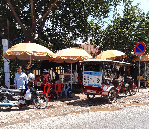 Sidewalk in Phnom Penh, Cambodia